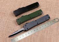Wholesale Mini Utility Knives - Samior 4 color Microtech Mini Knives Small Little Troodon Drop Point OTF Single Action Blade Zinc Aluminum Handle Pocket EDC Utility Knife
