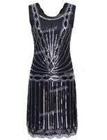 Wholesale Women S Art Deco - Wholesale-PrettyGuide Women 1920s Vintage Art Deco Sequin Inspired Great Gatsby Flapper Cocktail Party Dress