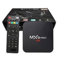 tv box miracast großhandel-MXQ Pro 4K Fernsehkasten entscheidendes HD 16.1 androides 5.1 intelligentes Fernsehkasten 1gb 8gb Viererkabel-Kern 2.0GHz Hardware-Dekodierung WIFI Miracast