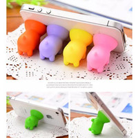 Wholesale silicone sucker phone holder online – Cellphone Mounts Stand Holder Lovely Cartoon Silicone Piggy Cellphone Sucker Bracket for All Mobile Phone iPhone Samsung