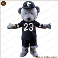 Wholesale Cheap Plus Size Teddies - Hip hop teddy mascot costume EMS free shipping, cheap high quality carnival party Fancy plush walking teddy bear mascot cartoon adult size.