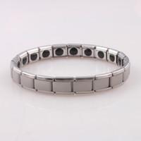 Wholesale Bracelet Germanium Dhl - DHL Shipping! Energy Titanium 50pcs Nano Energy Titanium Germanium Bracelet Pain Relief Powerfull D1036