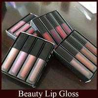 Wholesale Famous Makes Wholesale - Beauty Famous brand Matte Liquid lipstick Kit Lip Gloss Make up Waterproof Long Lasting Lipgloss Trophy Wife Icon 4pcs Set free DHL