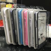 Wholesale Bumper Silicone - Bumper Frame Hard Plastic+Soft TPU Case For Iphone X 5.8inch 8 7 Plus 6 6s Dual Color Silicone Clear Skin Cover Cases With Retail Package