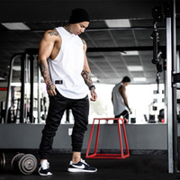 Wholesale Sweat Absorbing Spandex - LVFT Brother GYM workout clothes summer training vest muscle man sleeveless garment fitness thin absorb sweat breathable