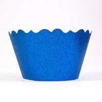 Wholesale Peacock Wedding Cakes - wholesale fashion peacock Glitter wedding Cupcake Wrappers holders for Birthday, bridal baby Shower tea party decorations
