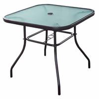 square patio table - 32 quot Patio Square Bar Dining Table Glass Deck Outdoor Furniture Garden Pool