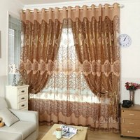 Wholesale Curtain Sets Living Room - European Royal Curtains Pachira quality burnt-out screens Luxury Window blackout Curtains Set for Living Room Bedroom