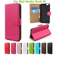 Wholesale Blu Dash Cover - Flip Leather For BLU Studio DASH L Wallet Leather Case For BLU Studio Dash M With Holder Phone Cover For HTC Desire 825