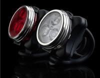 luzes de bicicleta recarregáveis usb venda por atacado-Bicicleta de Ciclismo MTB Bicicleta Recarregável USB 160LM 3LED Cabeça Frente Traseira Da Cauda Clipe Luz Da Lâmpada 2 Cores 2016 Nova Arriva (HJ-030)