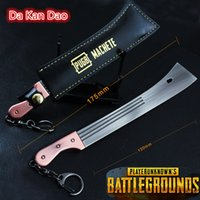 PLAYERUNKNOWNS BATTLEGROUNDS Portachiavi PUBG Portachiavi Pot Metallo Fashion Car Armi modello ornamenti Ornamenti giocattolo Da Kan Dao