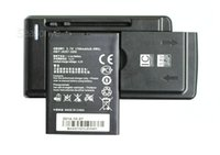 Wholesale Huawei Ascend W2 - 1x 1700mAh HB4W1   HB4W1H Replacement Battery + Universal Charger For Huawei Ascend W2 G510 G520 G525 T8951 U8951 D Y210