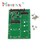 Wholesale Ssd Adapter Ide - Wholesale- 2 in 1 Mini PCI-E 2 Lane M.2 And mSATA SSD To SATA III 7+15 Pin Adapter