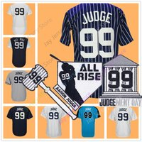 Wholesale Wrinkle Patches - Aaron Judge Jersey Men Women Youth With Patch Nickname All Rise 2017 All star Jerseys Home Away White Pinstripe