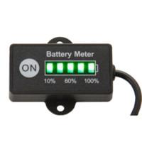 Wholesale Vinyl Gauge - Free Shipping Battery Fuel Gauge Battery Meter 12V 24V Lead-Acid Battery Tester for car motorcycle e bike lawn mower ATV UTV