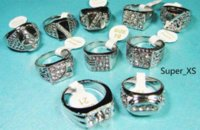Wholesale Coolest Cheap Jewelry - New Cool wholesale jewelry mixed lots 15pcs men enamel silver plated rings LB009 Rings Cheap Rings