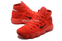 Wholesale Chinese Bonds - Free Shipping Hyperdunk BHM Chinese Red Basketball Shoes Mens Hyperdunk 2017 Chinese Red Sneakers Size US 7-12 Come With Box