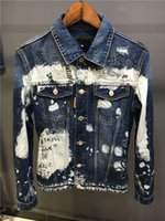 Wholesale Yellow Denim Jacket Men - 2017 new luxury brand Basic Coats Autumn Winter Men fashion all Denim Jacket Vintage slim fit italian caten Brand Jeans Coat brothers