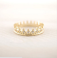 Wholesale Cake Jewelry Wholesale - Products sell like hot cakes a new design of 18 k gold plated ring crown square ring women E - shine jewelry wholesale