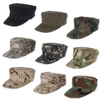 Wholesale Patrol Cap Camo - Camouflage Patrol Cap Men's Military Camo Army Soldier Cap Combat Tactical Octagonal Hunting Sun Hat For Outdoor Camping Hiking