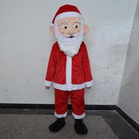 Wholesale Cheap Santa Claus Suits - Christmas Special Customized Santa Claus Mascot Costume Red Suit Adult Size Good Quality and Cheap Price Fancy Dress Party Free Shipping