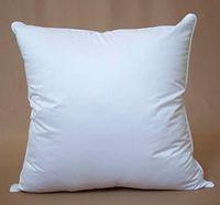 "Wholesale Insert Seat - 18"" x 18"" Square Premium Cluster Fiber Pillow Form Insert Cotton Covered - Machine Washable"