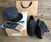 Wholesale Spring Lace Hats - best quality closest shape 350 boost Kanye West Running Shoes mens womens Sneakers drop shipping (hat +Keychain+Socks+Bag+Receipt+Boxes)