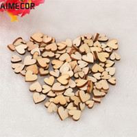 Wholesale ceramic angels decorations for sale - Group buy Aimecor Lovely pet Rustic Wood Wooden Love Heart Wedding Table Scatter Decoration Crafts DIY mar29