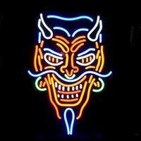 "Wholesale Tattoo Devil - New Tattoo Devil real glass neon beer signs pub bars neon light Red Blue 19""x15"""