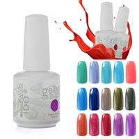 Wholesale Gel Polish Piece - IDO Gelish Cosmetic Soak Off Any 10 Pieces Nail Art Gel Nail Polish Foundation Top Coat Manicure Set