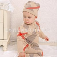 Wholesale Cashmere Baby Sweater - Retail Baby Romper spring clothing sweater clothing 100% cotton long clothing high quality children suit