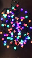 leuchtet kugel großhandel-Lichterketten 10M100 Leds Kirschkugel Lichterketten LED Niedervolt Dunkelgrün Linie Sternenhimmel Patio Lichterketten Für die Außendekoration