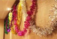 ingrosso nastri di natale-Christmas Colored ribbon Christmas Colorful Strip 2M 6 colori Albero Decorazioni Festive Scarf Wedding Scene layout Spedizione gratuita