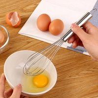 Wholesale Metal Eggs - 10 inch Manual Eggbeater Stainless Steel Egg Beater Kitchen Gadgets Stirring Whisk Mixer Beater Egg Tools