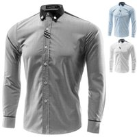 Dress Shirt-Men Wholesale Casual Camisa Masculina Slimming social Para Hombre Vestir Marque Vêtements Homme Vetement Nuisette, M-4XL, GX8098