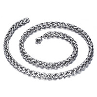 Wholesale Stainless Steel Twist Chain - High Quality 316L Stainless Steel Twisted Link Chain for Jewelry 6mm Large Punk Chain with Lobster Clasp For Men