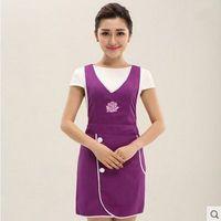 Wholesale Purple Overalls Women - Cute apron han edition style supermarket nail salons beauty salon beautician overalls apron female