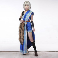 Wholesale Final Fantasy 13 Costumes - Final Fantasy 13 Oerba Yun Fang Cosplay Costume Wild-looking Native Costume with Fur Halloween Costumes for Women