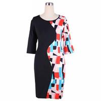 Wholesale Wholesale Work Dresses For Women - wholesale Splicing dress bodycon dresses business dresses 2016 Plus XL-4XL size office women clothes Work Dresses for women z44