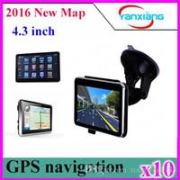 Wholesale Igo Maps China - DHL 10PCS Built-in 4GB 4.3 inch GPS Navigator FM& Win ce 6.0 with lastest IGO maps ZY-DH-01