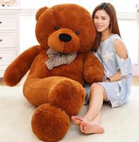 teddy-puppe große größe großhandel-160 CM große riesen teddybär große tiere kind baby dolls lebensgroße teddybär mädchen spielzeug geschenk für kinder 2017