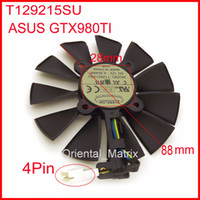 Wholesale Graphics Card Free - Wholesale- Free Shipping EVERFLOW T129215SU 12V 0.5A 88mm 28*28*28*28mm 4Pins For ASUS GTX980TI Graphics Card Cooler Cooling Fan