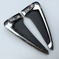 vordere kotflügelseite großhandel-Für BMW X5 F15 ABS Seitenflügel Air Vent Outlet Dekorative Aufkleber Front Fender Seitendüse Trim BlackChrome