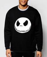 Wholesale mens christmas hoodie - Wholesale-nightmare before christmas 2016 autumn winter Jack Skellington new mens sweatshirts streetwear hip hop hoodies brand clothing
