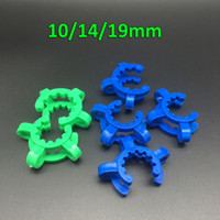 Wholesale Clamping Kit - 10mm 14mm 18mm  19mm Joint Plastic Keck Clips Laboratory Lab Clamp Bong Clip For Glass Drop Down Adapter Nectar Collector Kit