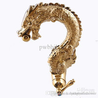 Brass Gold Color Plated Gold Dragon Faucet pia lavatório de latão de latão
