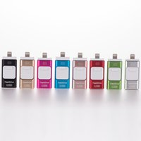 Wholesale Flash Memory Iphone - 3 in 1 OTG USB3.0 Flash Drives 8GB-16GB-32GB-64GB Memory stick Pendrive i Flash Drive for iPhone 7 6 Samsung S7 S6 PC