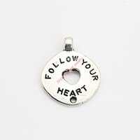 Wholesale Love Life Live - 20pcs Antique Silver Plated Love Live Life Charm Pendants for Bracelet Necklace Jewelry Making DIY Handmade Craft 17x17mm