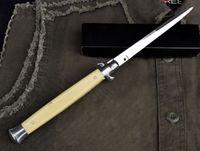 "Wholesale Fiberglass Knives - Promotion AKC Knife 13"" Ivory White (Fiberglass Handle) 440C Steel Survival Folding Camping Tactical Tools F20L"