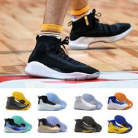 Wholesale Fun Shoe Laces - (With Box) New More fun more rings Stephen curry 4 IV Basketball Shoes Stephen 4s Black white Championship men Gold Training Sports Sneakers